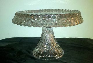 Glass Pedestal Cake Plate/Serving Plate Bowl Combo