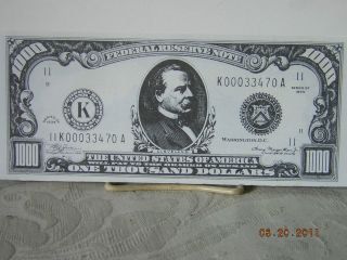 1000 DOLLAR BILL BLACK AND WHITE COPY GROVER CLEVELAND