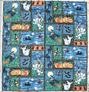 Northcott Halloween Harvest Moon Fabric Panel Cotton Quilt Craft )