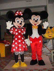 Hot !New Mickey and Minnie Mouse Mascot Costume