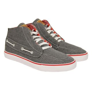 Radii Mens Gilligan Mid Vlc FM1049 Gray High Top Fashion Sneakers