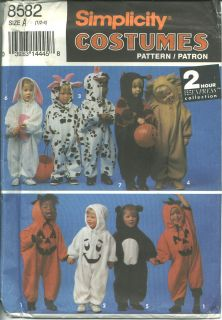 Halloween COSTUME sewing PATTERN Cow Lion Ladybug Bunny Pumpkin Ghost