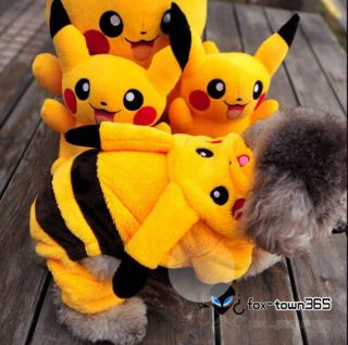Cartoon Pikachu Pet Dog Clothes couple custom Coat hoodie Jackets