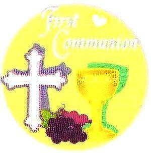 First Communion Edible Image ~ Edible Image Icing Cake Topper ~ LOOK