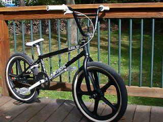 LETUM STREET BMX BIKE BLACK 20 STOLEN CRANKS SKYWAY TUFF II EASTERN