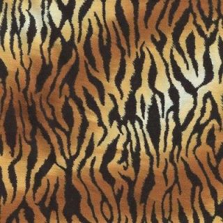 WILD BROWN BLK GOLD TIGER SKIN PRINT Cotton Fabric BTY for Quilting