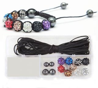 Resin Rhinestone Shamballa Bracelet Making Kit inc Instructions