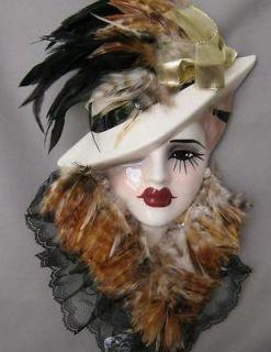 Porcelain Wall Mask Unique Creations San Francisco Brown Gold Black