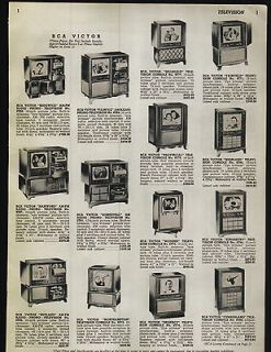 1951 ad RCA Victor Philco TV Television Sets Consoles Phonograph