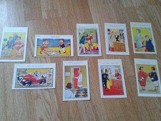 Saucy Seaside Postcards x 9