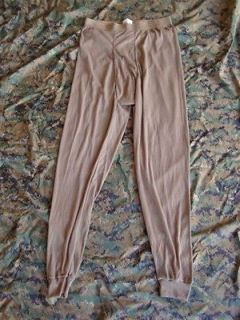 USMC Army Military Surplus Drawers Underwear Long Johns MEDIUM Coyote