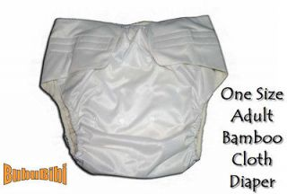 One Size Adjustable Reusable BAMBOO ADULT Cloth Diaper/Nappy+2 Insert