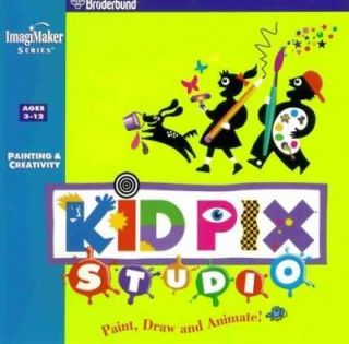 PC CD childrens creative graphic art paint design learning tools