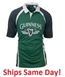 Guinness Stout Beer Ireland Performance Rugby Shirt Jersey Size M L
