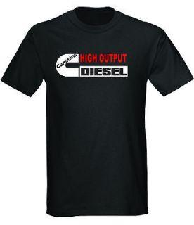 cummins high output diesel power t shirt black or white dodge truck