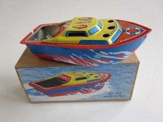 Boat SHIP Ponyo Putt Vtg style Tin Litho Candle/Steam Power New/Box