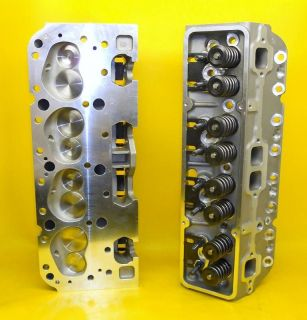 327 350 CHEVY ALUMINUM CYLINDER HEADS 2.02 INTAKE SBC .600 LIFT