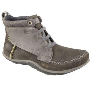 Cushe Mens BESPOKE SLIPPER Grey/Grey Leather Suede Chukka Boots
