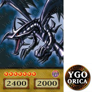 1x Red Eyes Black Dragon   YuGiOh Anime TV Show Non Holo Orica