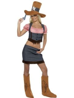 Daisy Duke Cowgirl Wild West Fancy Dress Costume Halloween Hen Night