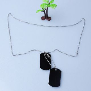 Beauty Military Army Style 2 Dog Tags Chain Mens Pendant Necklace