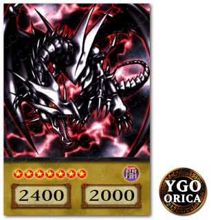 1x Red Eyes Black Dragon ♔ YuGiOh Anime TV Show NonHolo Custom