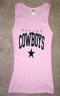 DALLAS COWBOYS Pink WOMENS TANK TOP FOOTBALL shirt XL