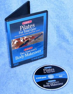 Free Shipping! ~~ TOTAL GYM DVD PILATES & DAN ISAACONS BODY MAKEOVER
