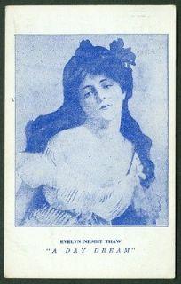 EVELYN NESBIT THAW A DAY DREAM VINTAGE POSTCARD 1908