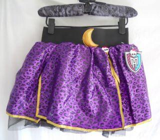 New Monster High Petti Skirt Clawdeen Wolf Purple Animal Leopard Print