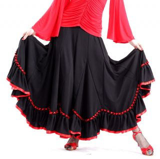 NEW Latin salsa flamenco Ballroom Dance Dress #HB120 skirt