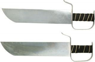 NEW 19 Stainless Steel Chrome Plated Chinese Butterfly Sword Set
