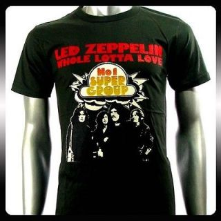 Led Zeppelin Heavy Metal Rock Punk Band T shirt Sz XL Biker Le29