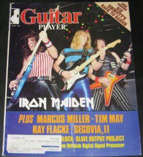 Guitar Player Magazine November 1983 Iron Maiden, Marcus Miller, Tim