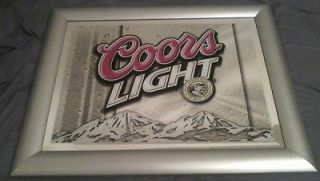 Newly listed Coors Light Mirror Sign    Great Looking