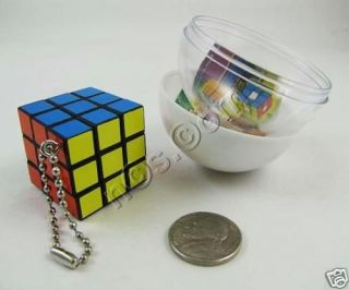 KoroKoro Hakusei Mini Rubiks Cube Keychain Black Border