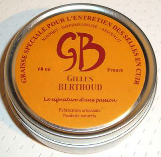 NEW* GILLES BERTHOUD WAX GREASE FOR LEATHER SADDLE FRANCE BROOKS