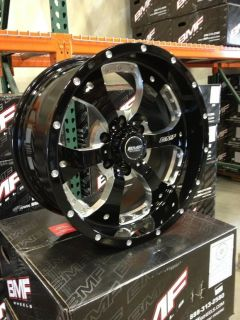 BMF Novakane Death Metal Black 18x9 6x5.5 6x139.7 +00 Chevy Toyota