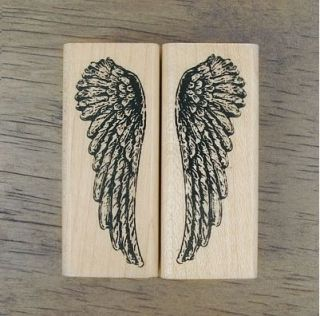 Decorative Stamps Rubber Stamp_Angel Wings