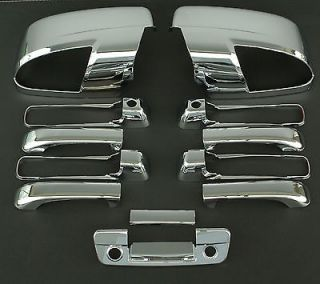 2010 2011 DODGE RAM 5D CHROME DOOR + MIRROR + TAILGATE HANDLE COVER