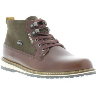Lacoste Boots Genuine Delevan 4 Mens Casual Shoes Burgundy Brown Sizes