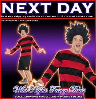 FANCY DRESS COSTUME # ADULT BEANO DENNIS THE MENACE LARGE