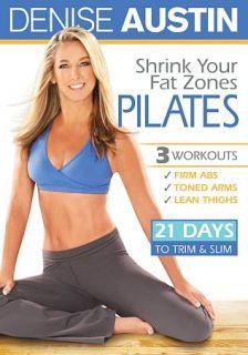 Denise Austin Shrink Your Fat Zones   Pilates DVD, 2010