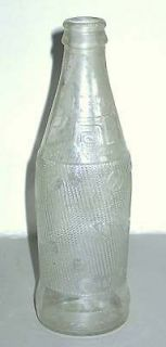 Vintage TAB Clear Glass SODA BOTTLE 10 FL OZ NO DEPOSIT NO REFILL