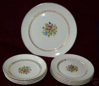 PC LOT~ W.S. GEORGE ~DERWOOD~FLORAL DINNERWARE