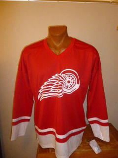 NHL Detroit Red Wings Mens Hockey Jersey Factory 2nd Logo Upside Down