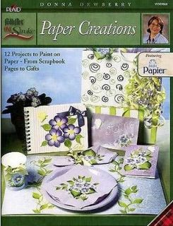 Donna Dewberry One Stroke ~ Paper Creations Instruction Book ~ New