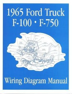 FORD 1965 F100   F750 Truck Wiring Diagram Manual 65