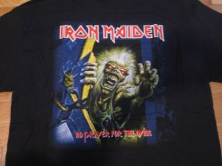 MAIDEN NO PRAYER FOR THE DYING T SHIRT BLACK L EDDIE METAL DICKINSON