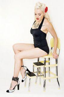 90 Bathing Beauty Esther Williams Black Rockabilly MOD Pinup Girl